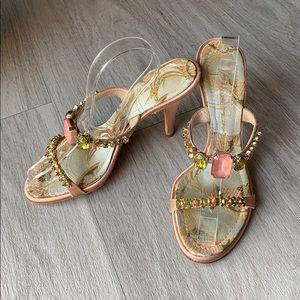 Giuseppe Zanotti bejeweled brocade heels